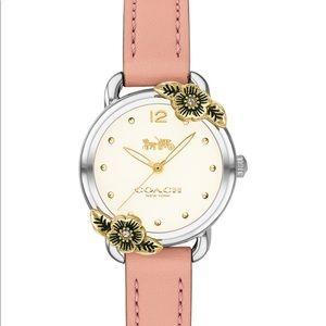 Authentic NWT Coach Delancey Tea Rose Blush Watch